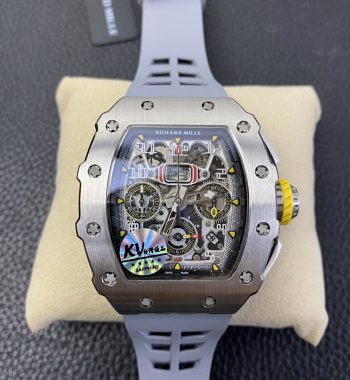 RM11-03 SS KVF Edition Crystal Skeleton Dial Gray Racing Rubber Strap A7750