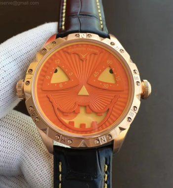 Konstantin Chaykin Joker RG TWF Edition Orange Pumpkin Dial Black Leather Strap NH35A