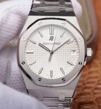 Royal Oak 41mm 15500 SS OMF Edition White Textured Dial SS Bracelet MIYOTA 9015