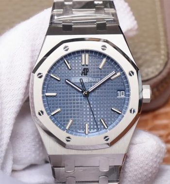 Royal Oak 41mm 15500 SS OMF Edition Blue Textured Dial on SS Bracelet MIYOTA 9015