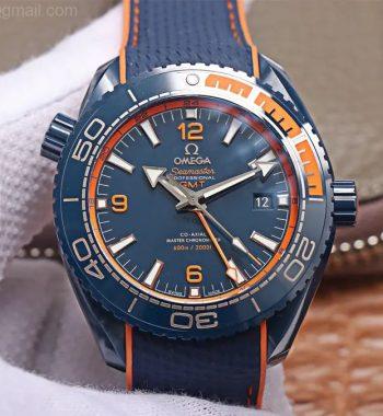 Planet Ocean 45.5mm Big Blue Real Ceramic VSF Edition Blue Rubber Strap A8906 Super Clone