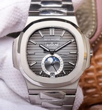 Nautilus 5726 Complicated SS PF Edition Gray Textured Dial SS Bracelet A324