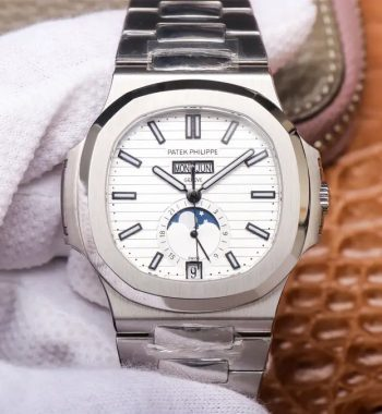 Nautilus 5726 Complicated SS PF Edition White Textured Dial SS Bracelet A324