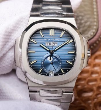 Nautilus 5726 Complicated SS PF Edition Blue Textured Dial SS Bracelet A324