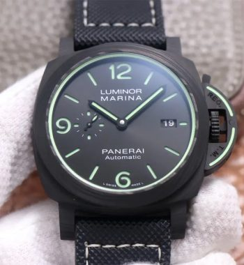 PAM1118 Luminor Marina Luminous Trilogy VSF Edition Black Sportech Strap P.9010