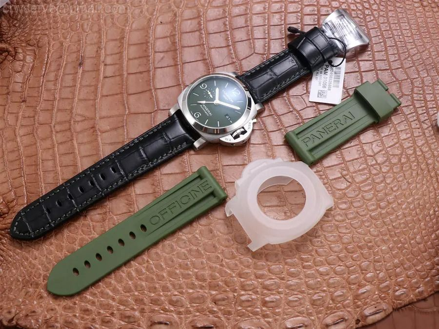 PAM1056 GMT VSF Edition Green Dial Black Leather Strap P.9011 Super Clone