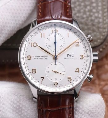 Portuguese Chrono IW371604 ZF Edition White Dial Brown Leather Strap A69355