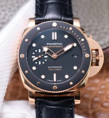 PAM974 Luminor Submersible RG VSF Edition Black Rubber Strap AXXXIV