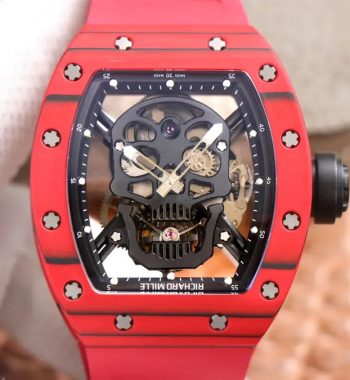 RM052-01 Tourbillon PVD Red Bezel JBF Edition Skeleton Dial Red Rubber Strap