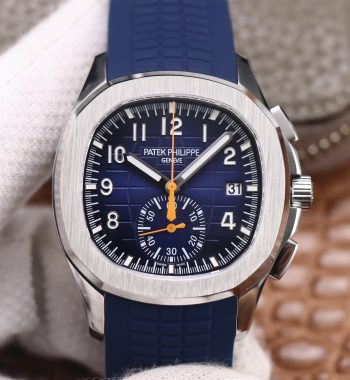 Aquanaut 5968 SS OMF Edition Blue Dial Blue Rubber Strap A520