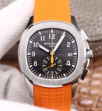 Aquanaut 5968 SS OMF Edition Gray Dial Orange Rubber Strap A520