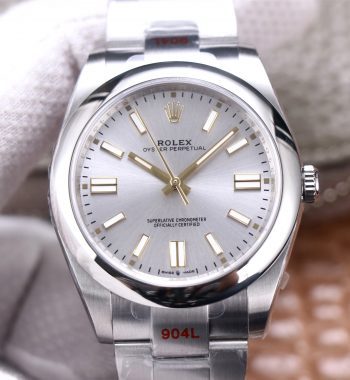 Oyster Perpetual 41mm 124300 EWF Edition Silver Dial SS Bracelet A3230
