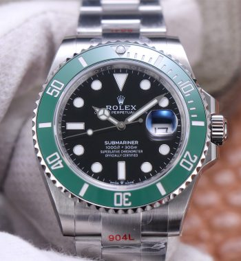 Submariner 41mm 126610 LV EWF Black Dial Kermit 904L Bracelet A3235