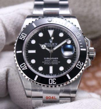 Submariner 41mm 126610 LN Black Ceramic EWF Black Dial 904L SS Bracelet A3235