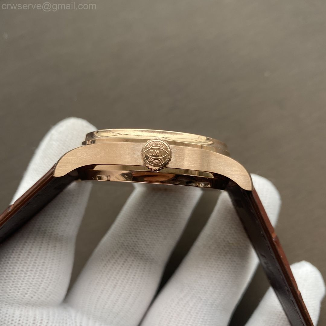 Portuguese Real PR RG IW500702 ZF Edition Brown Leather Strap A52010