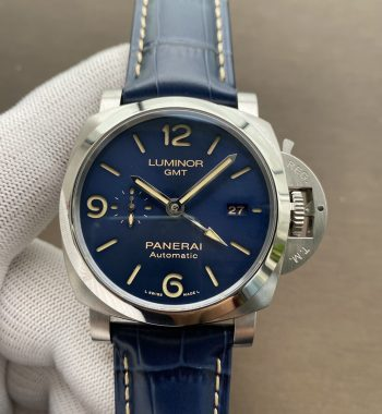 PAM1033 V 44mm VSF Edition Blue Dial Blue Leather Strap P.9011 Super Clone