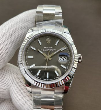 DateJust 41 126334 904L SS VSF Edition Gray Dial Oyster Bracelet VS3235