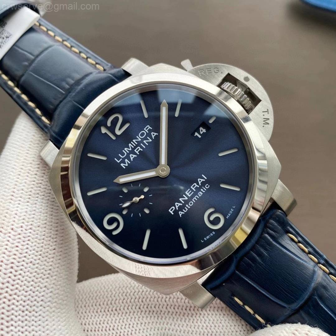 PAM1313 VSF Edition Blue Dial Blue Leather Strap P.9010 Clone