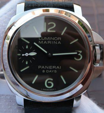 XF PAM510 Black Distressed Calfskin Strap P5000