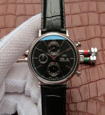 V6 IW391008 Portofino Chronograph Black Dial A7750