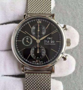 V6 Portofino IW391010 Chronograph Black Dial