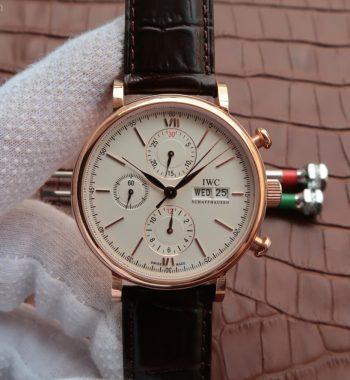 Portofino Chronograph IW391020 RG White Dial