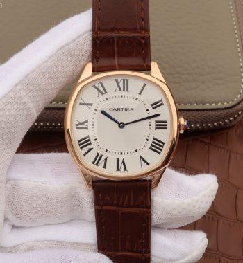 Drive de Cartier RG White Dial Leather Strap A9015