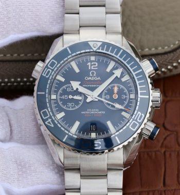 OMF Planet Ocean Master Chronometer Blue LiquidMetal SS Bracelet A9900