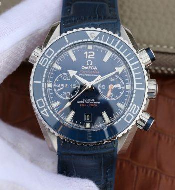 Planet Ocean Master Chronometer OMF Blue LiquidMetal Blue Leather A9900