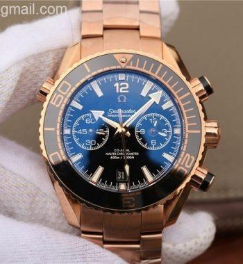 OMF Planet Ocean Master Chronometer RG Black Bezel Black Dial RG Bracelet A9901