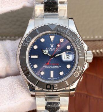 Yacht-Master 116655 SS Blue Dial on SS Bracelet A2824