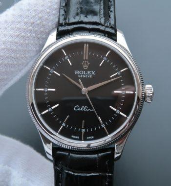 MK Cellini Time 50509 SS Black Dial Leather Strap A3165