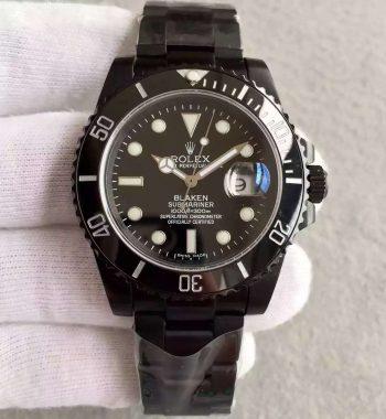 Blaken Submariner 116610 PVD Black Dial PVD Bracelet A2836