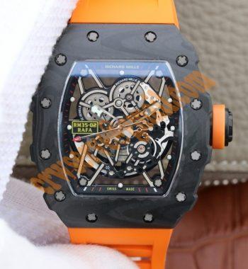 RM035-02 Rafael Nadal FC Titanium Case KVF Skeleton Dial Orange Rubber Strap MIYOTA8215