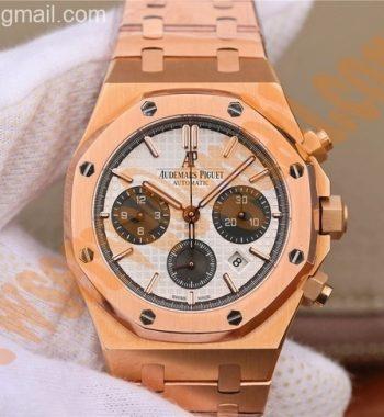 Royal Oak Chronograph RG JHF White/Black Dial RG Bracelet A7750