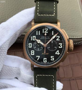 Pilot Type 20 Chronograph Extra XF Bronze Case Nubuck Strap A7750
