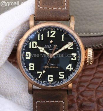 Pilot Type 20 Bronze XF California Black Dial Leather Strap A2824