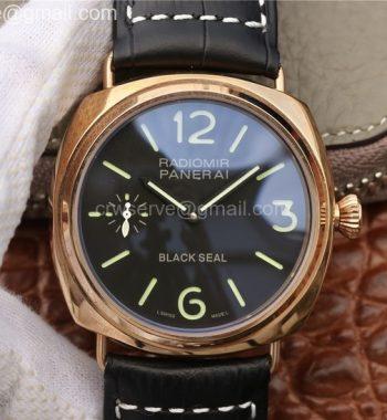 PAM575 R V6F Black Leather Strap P.1000