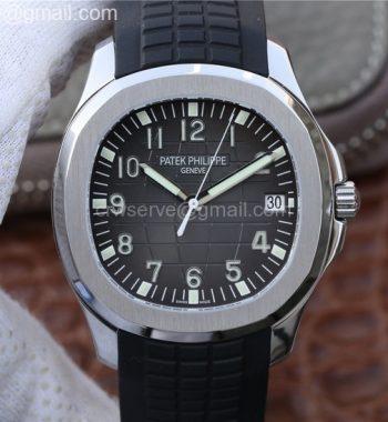 Aquanaut 5167 SS KMF Gray Dial Black Rubber Strap A324 Clone