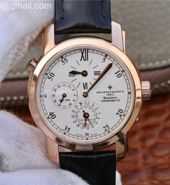 Malte Dual Time Regulator RG K11 Maker White Dial Black Leather Strap A23J