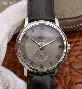 De Ville Prestige Small Second TWF Gray Dial Black Leather Strap MIYOTA 9015