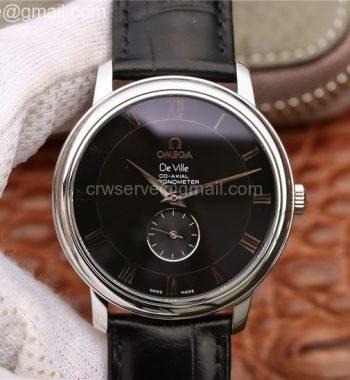 De Ville Prestige Small Second TWF Black Dial Black Leather Strap MIYOTA 9015