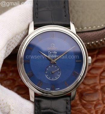 De Ville Prestige Small Second TWF Blue Dial Black Leather Strap MIYOTA 9015
