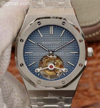 Royal Oak SS Tourbillon Blue Gradient Textured Dial SS Bracelet