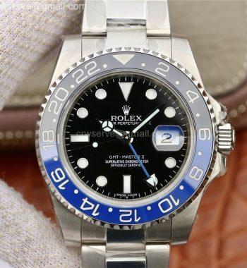 GMT-Master II 116710 BLNR Black/Blue Ceramic SS Bracelet A2836