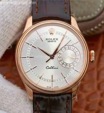 Cellini Date65 50515 RG MKF White Dial Black Leather Strap A3165
