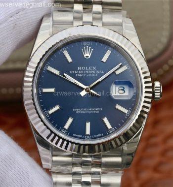 DateJust 41 126334 904L SS DJF Blue Dial Jubilee Bracelet A2836