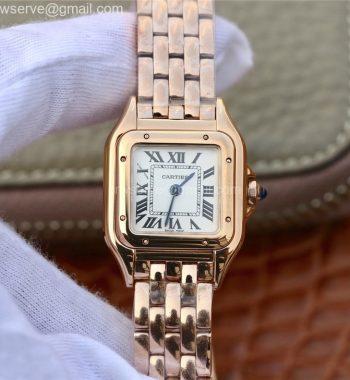 Panthère Secrete Ladies 22mm RG K11 White Dial RG Bracelet Ronda Quartz