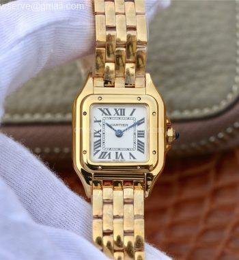Panthère Secrete Ladies 22mm YG K11 White Dial YG Bracelet Ronda Quartz
