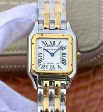 Panthère Secrete Ladies 27mm SS/YG K11 White Dial SS/YG Bracelet Ronda Quartz